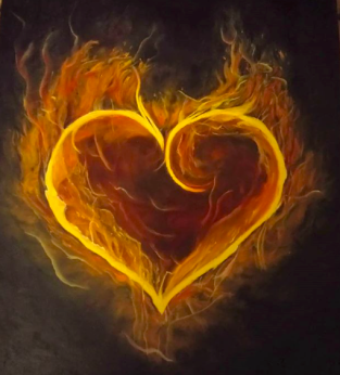 Awakening the fire of the heart by Jules Wheat